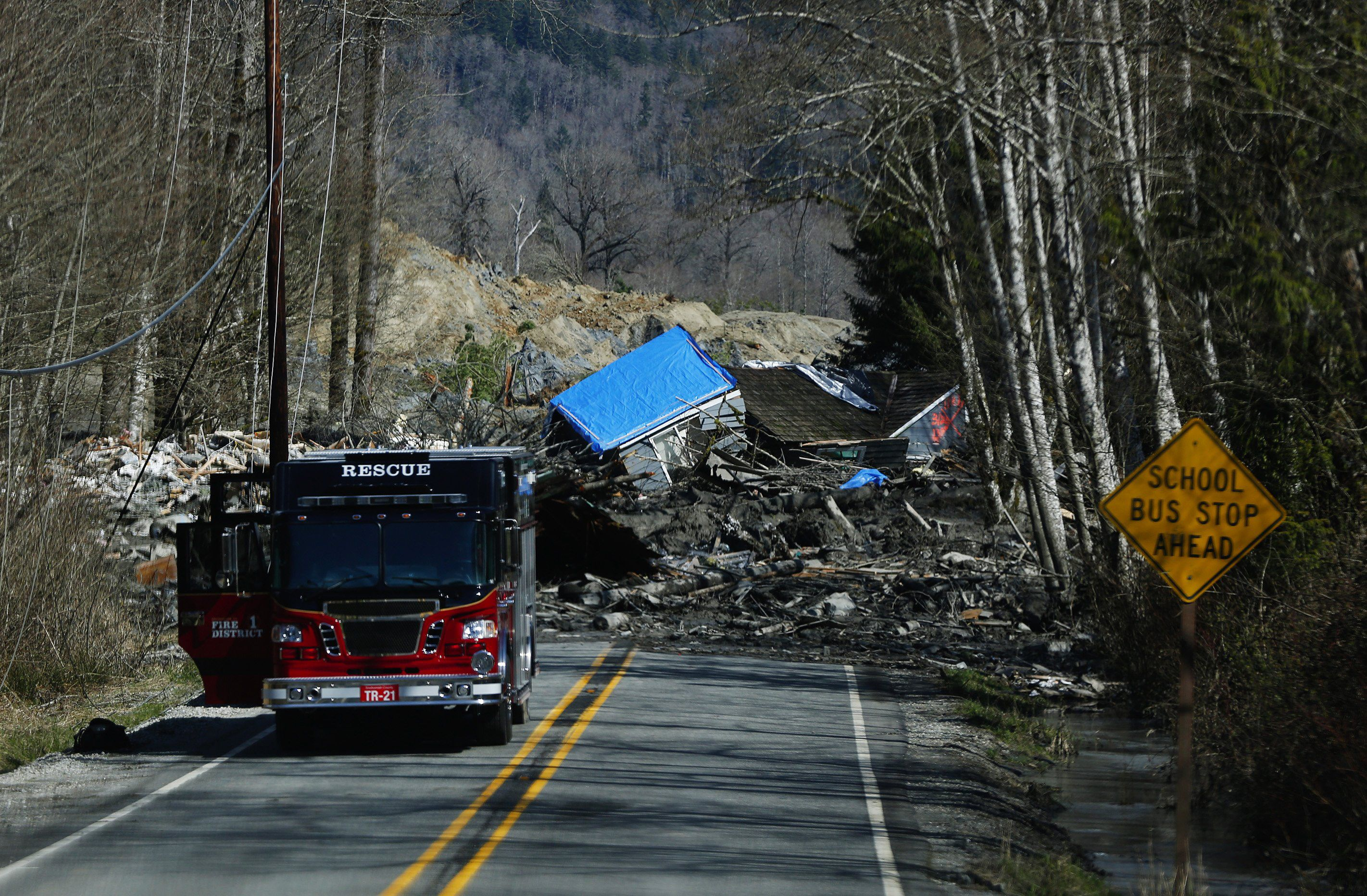 House destroyed in Oso, Wash., landslide