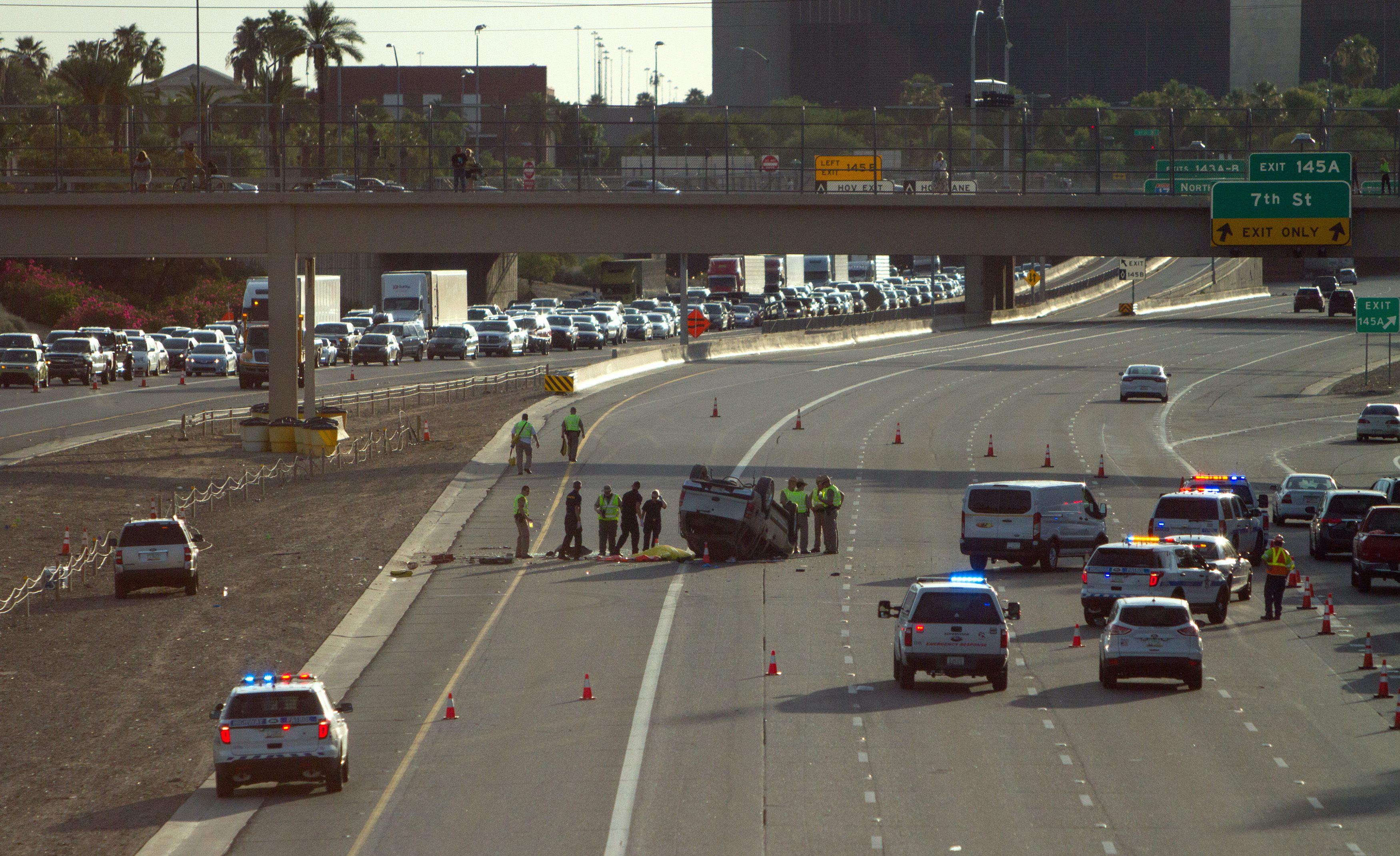 rollover crash in Phoenix