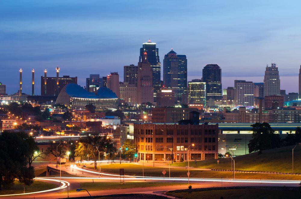 Kansas city skyline at sunrise