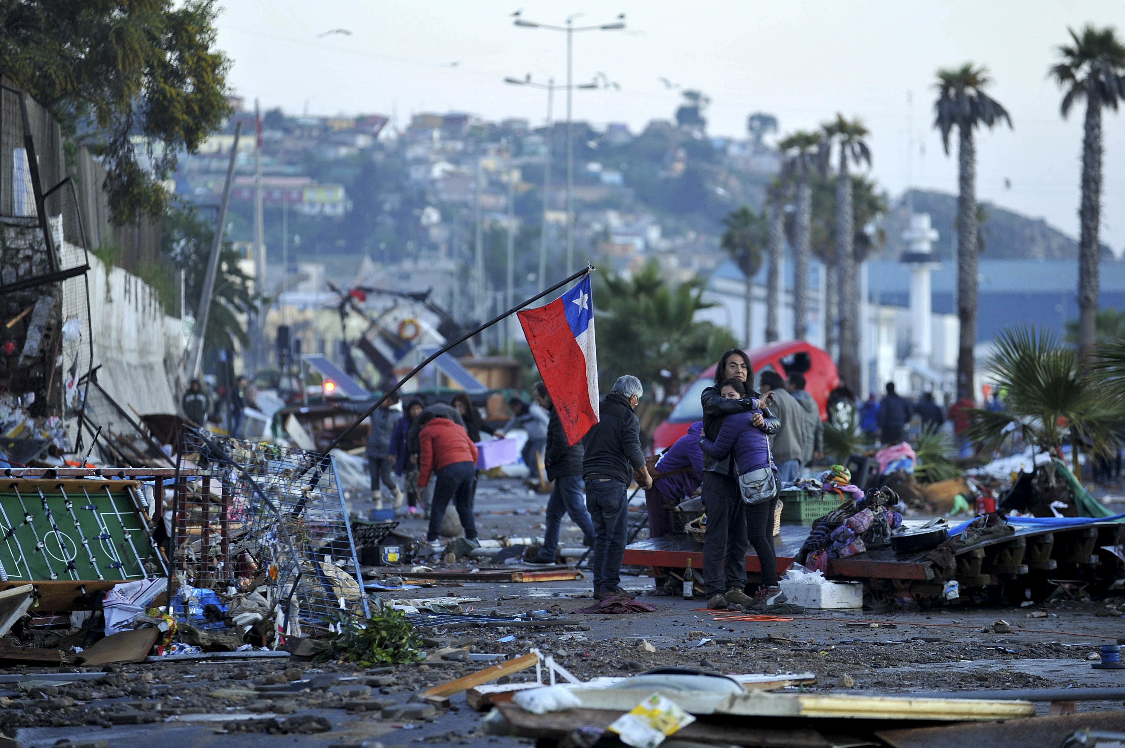 chile earthquake Planning before a 83-magnitude earthquake minimized the severity of the disaster that struck off chile at least 11 people died, and aftershocks continue.