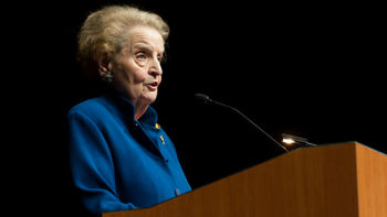Madeleine Albright calls on industry leaders to address global risks during Applied Net's keynote address