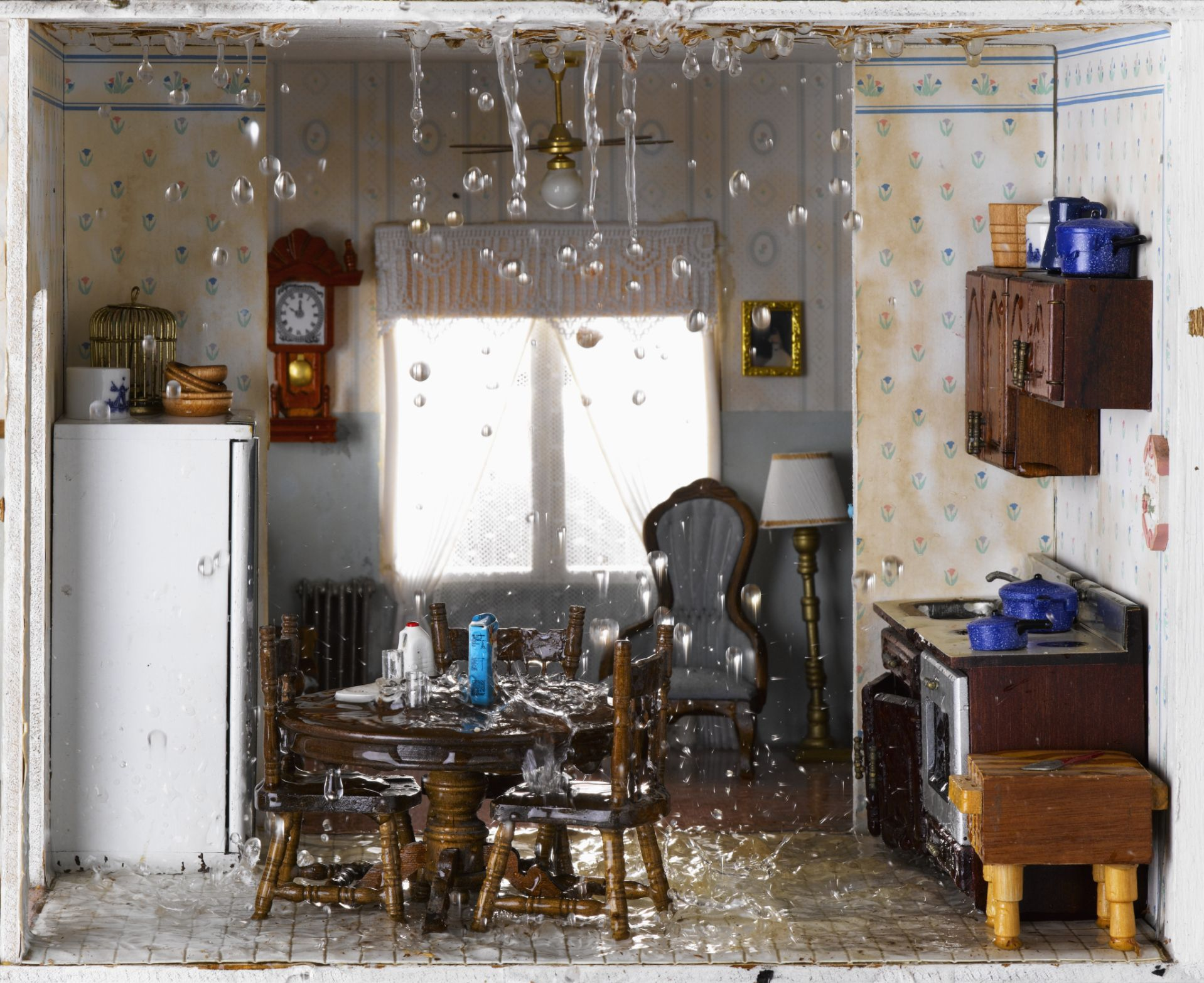 water leaking from ceiling