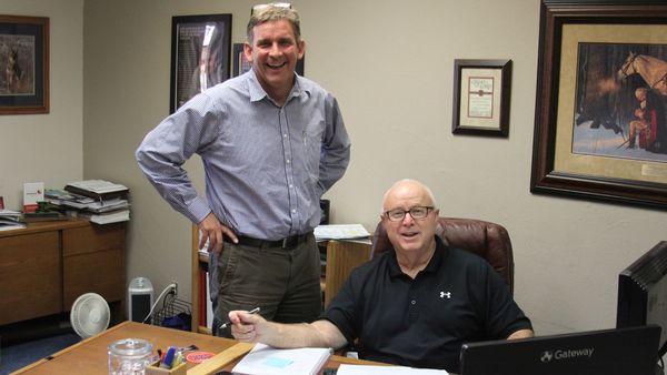 Agency partner Trent Richmond (left) and Mark Krehbiel (right), financial services rep at Keller Leopold Insurance. (Photo: Keller Leopold Insurance)