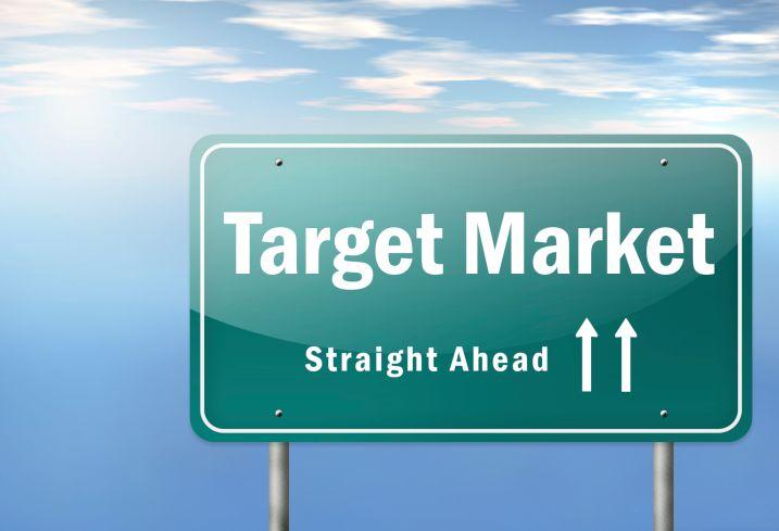 Target Market Straight Ahead roadsign