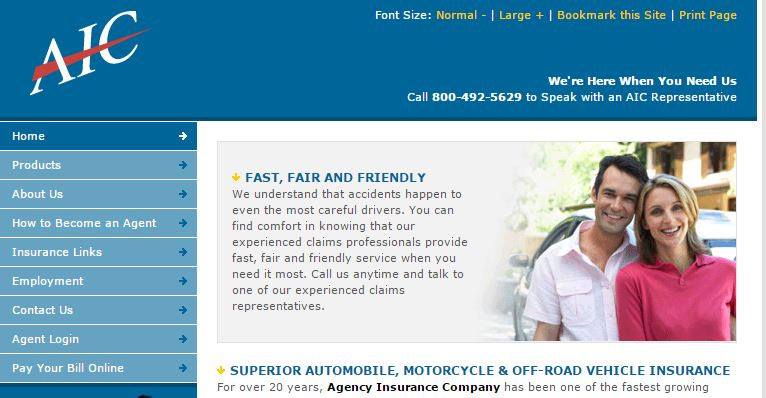 Agency Insurance of Maryland website