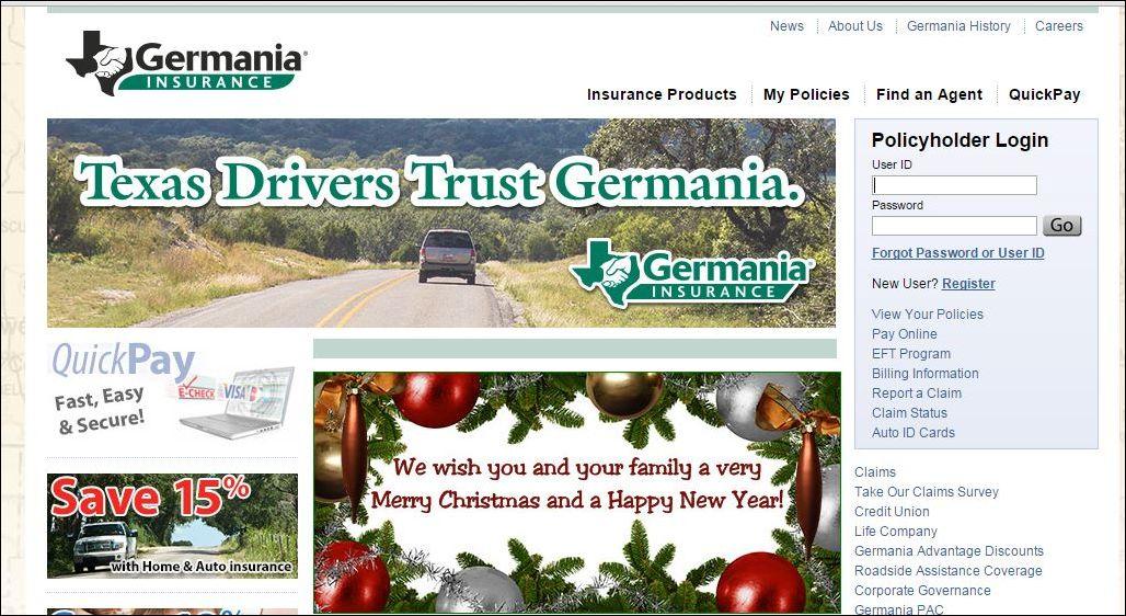 Germania Mutual Insurance website