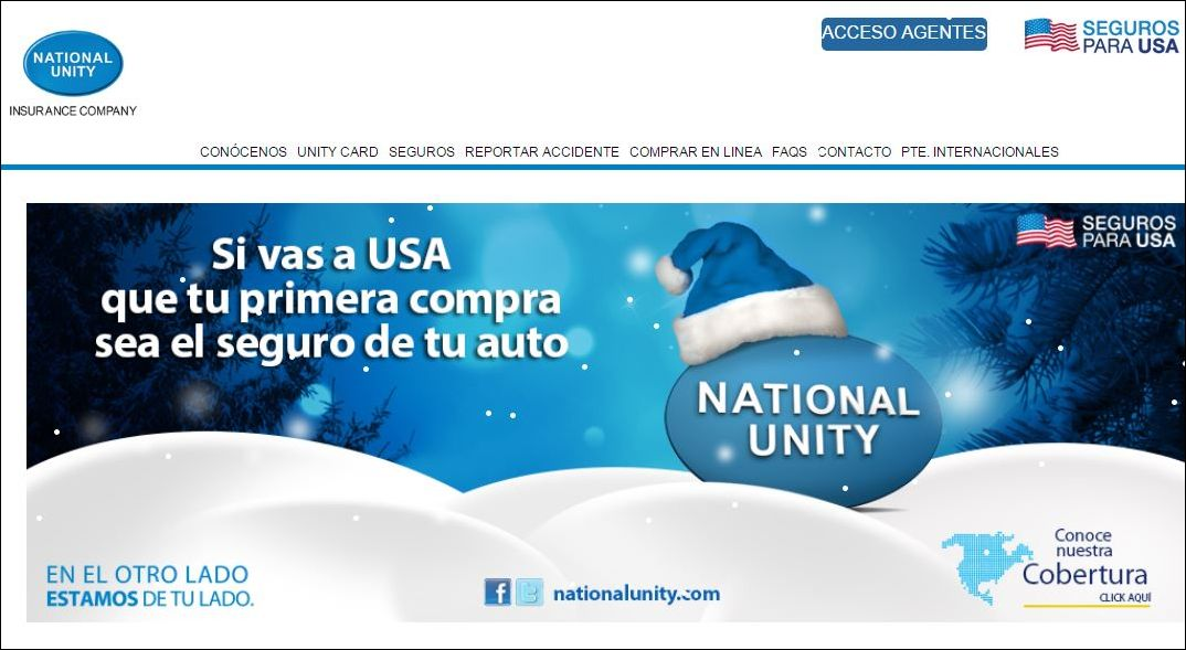 National Unity insurance website
