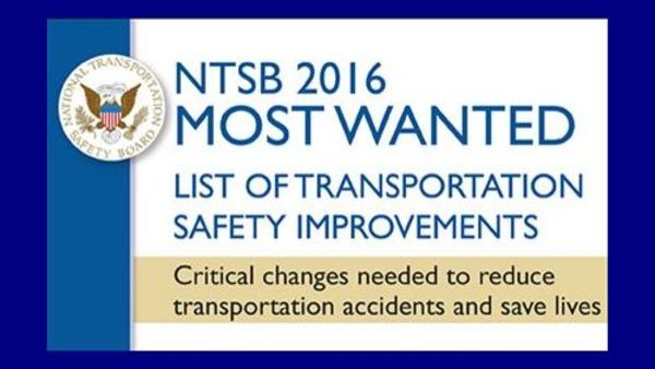 "In its annual ""Most Wanted"" list, the NTSB is urging government regulators and industry to move more quickly to adopt equipment that automatically hits the brakes on cars, trucks and trains, as well as devices that monitor operators with video."