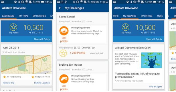 Allstate Drivewise app