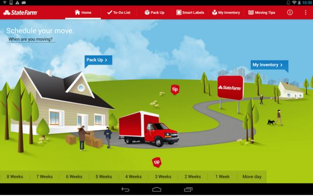 State Farm MoveTools mobile app