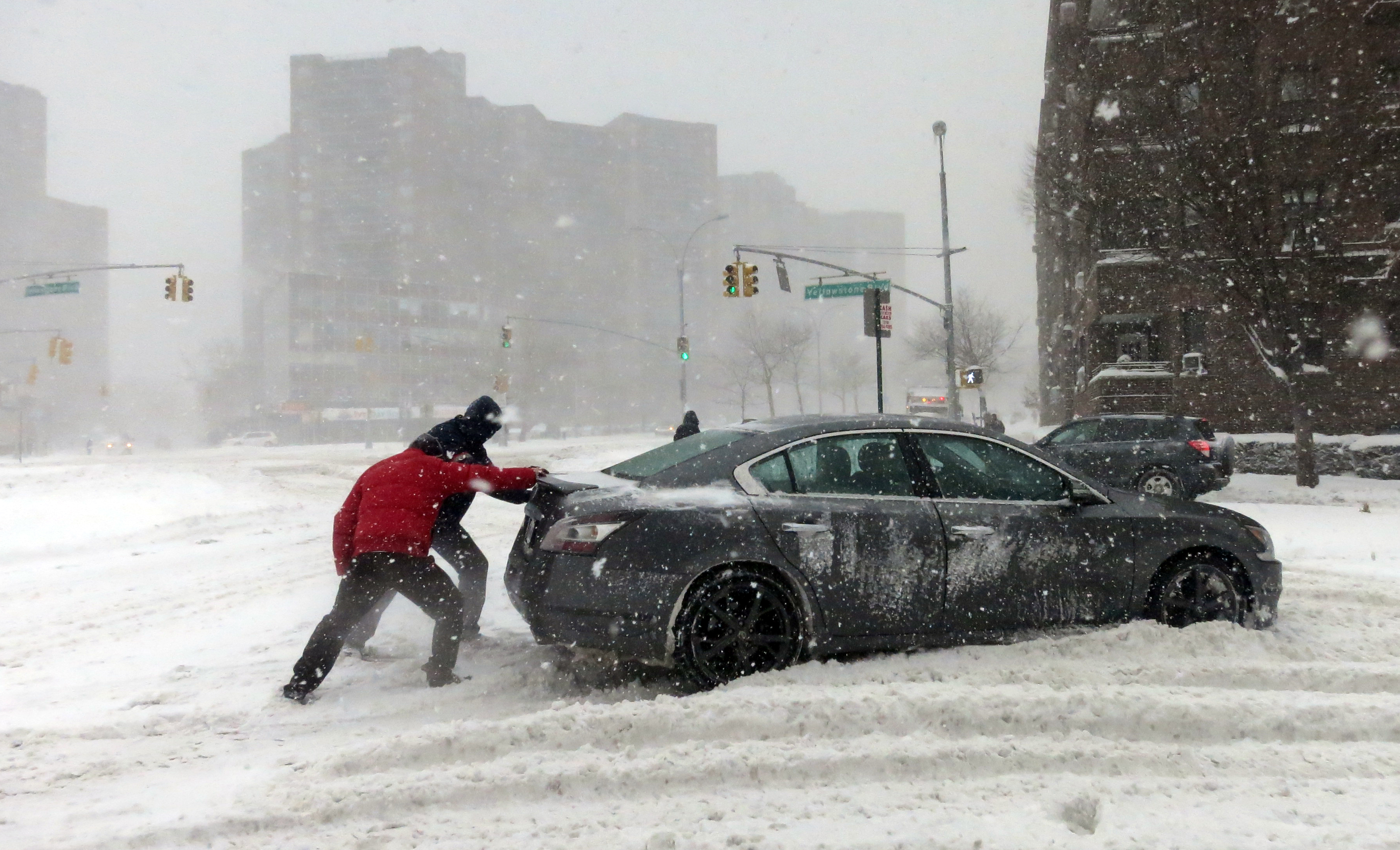 Blizzard in Queens, N.Y.