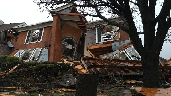 Damage of a house is seen after a tornado spread out in Rowlett, Texas, onSunday, Dec. 27, 2015. At least 11 people died and dozens were injured in apparently strong tornadoes that swept through the Dallas area and caused substantial damage. (Photo: David Warren/AP Photo)