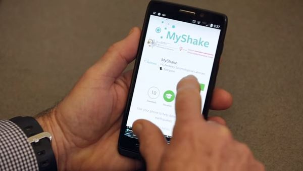 MyShake can be downloaded for free from Google's Play store, and an iPhone app is also planned. (Photo: MyShake.Berkeley.edu)