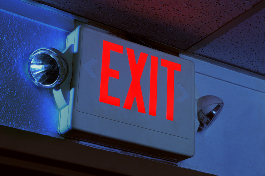 Exit sign and lights