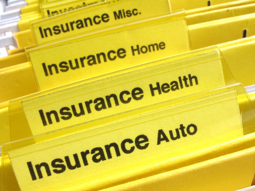Yellow insurance folders