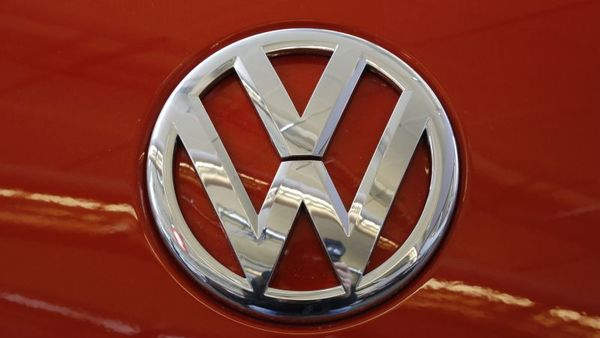 This is the Volkswagen logo on a Volkswagen automobile on display at the Pittsburgh International Auto Show in Pittsburgh Thursday, Feb. 11, 2016. (AP Photo/Gene J. Puskar)