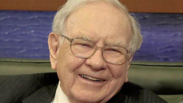 In this May 4, 2015 file photo, Berkshire Hathaway Chairman and CEO Warren Buffett smiles in Omaha, Neb., during an interview. (AP Photo/Nati Harnik)