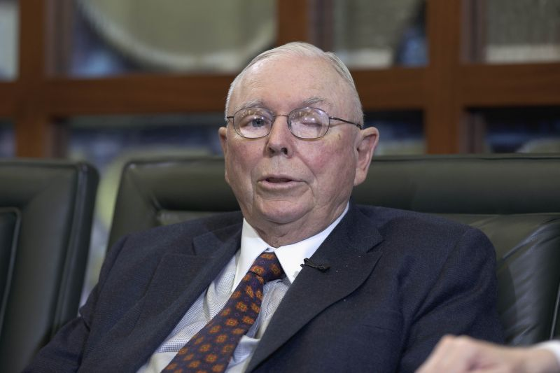 Charles Munger, vice-chairman of Berkshire Hathaway