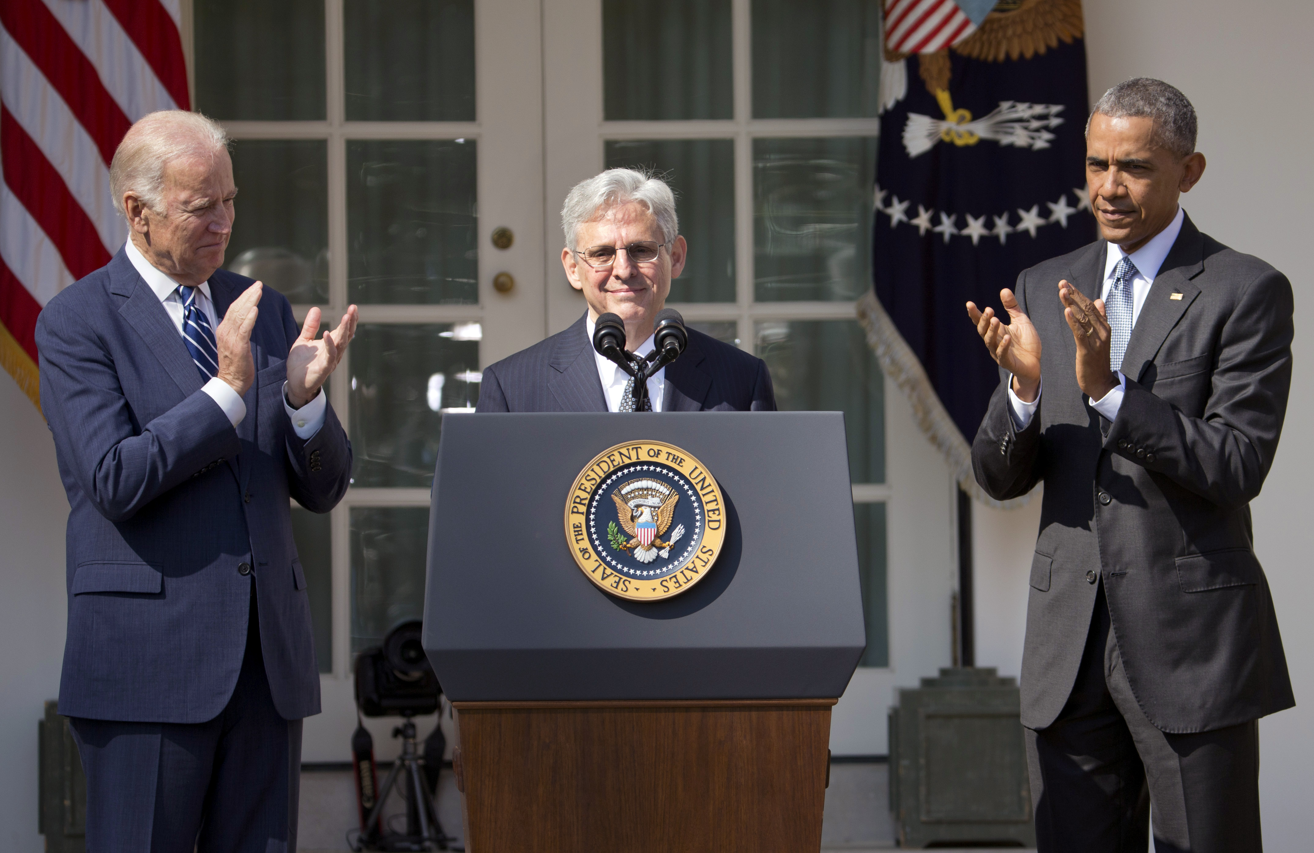 Merrick Garland with Obama and Biden