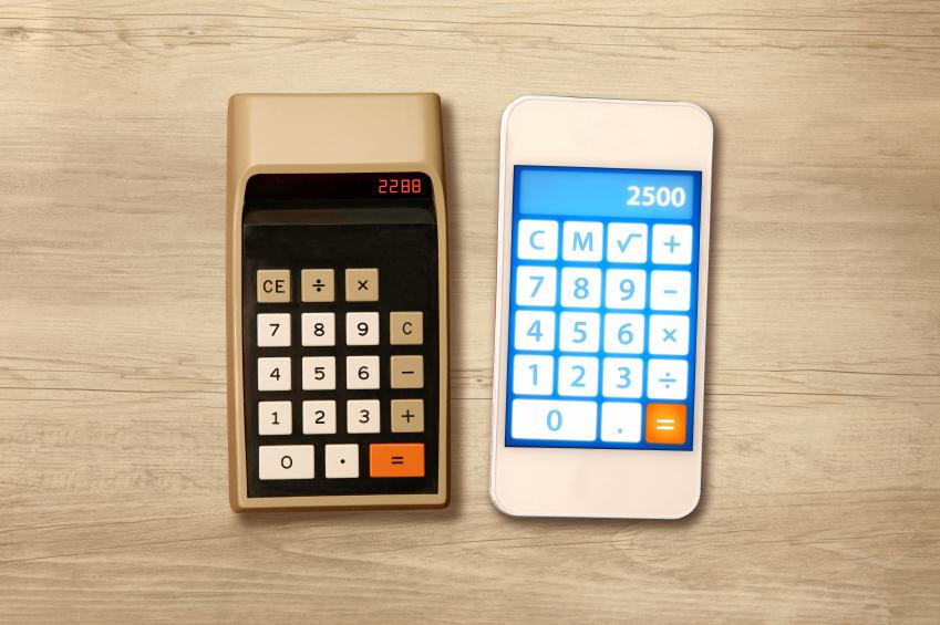 Calculator vs. smartphone