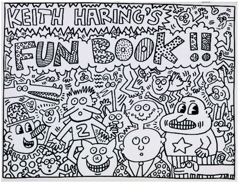 keith haring coloring book | Coloring Pages