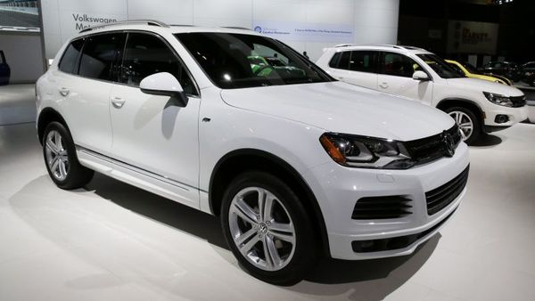 In this Feb. 7, 2014 file photo, the 2014 Volkswagen Touareg TDI R-Line is on display during the media preview of the Chicago Auto Show at McCormick Place in Chicago. (AP photo/Nam Y. Huh, File)