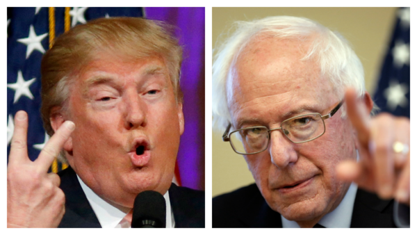 Republican presidential candidate Donald Trump, left, is viewed most favorably by the insurance industry, while Democratic candidate Bernie Sanders, right, is viewed least favorably, according to a survey by A.M. Best. (Photos: Gerald Herbert and Jim Cole/AP Photos)