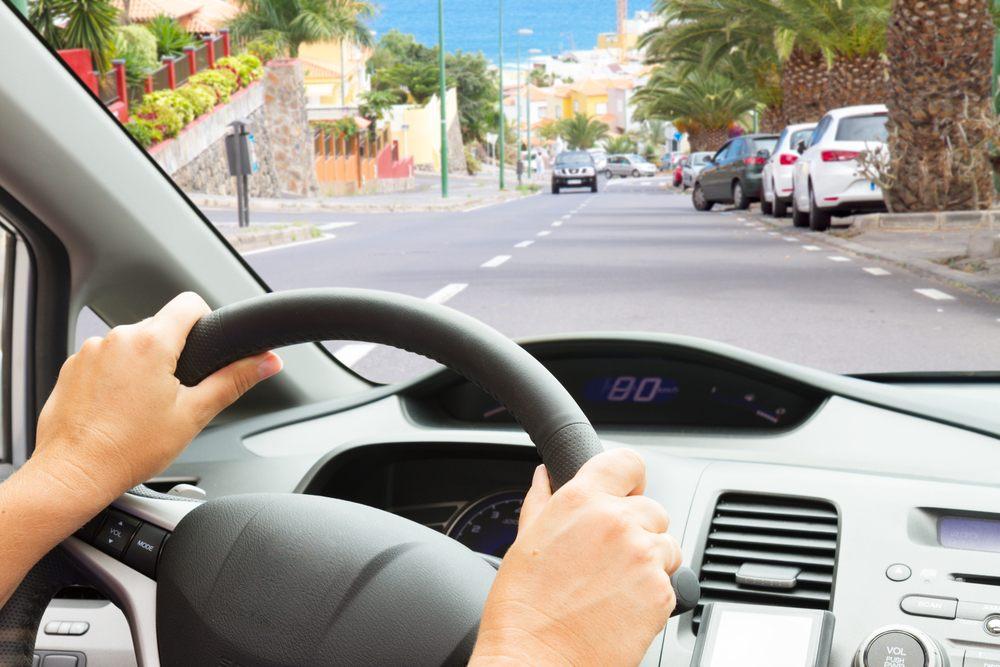 driver behind the steering wheel