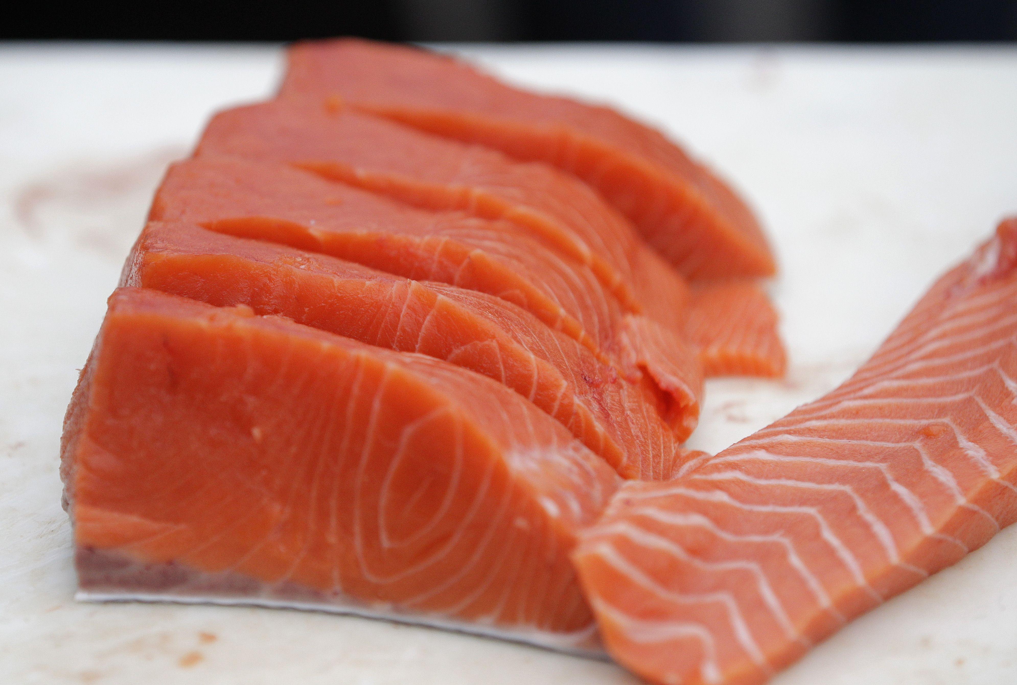 Filets of Copper River Salmon from Alaska in Seattle
