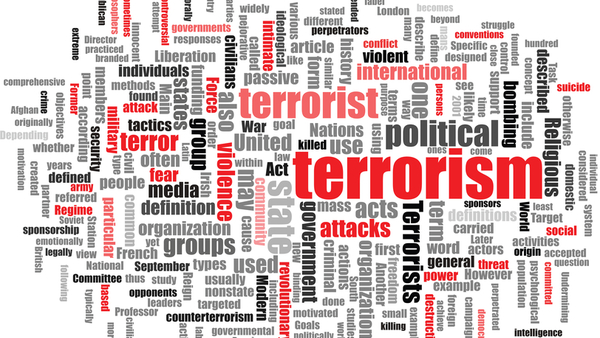 The meaning of the word terrorism has changed since the 2001 attacks of Sept. 11, 2001. (Terrorism word cloud Stock photo ID:55523804)