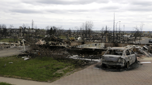 Destroyed property in Fort McMurray, Alberta, on May 9, 2016. (Photo: AP/Rachel La Corte)