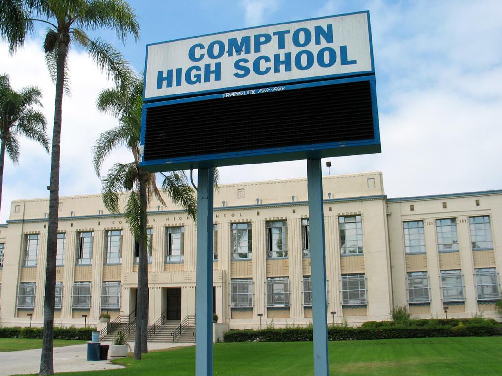 Compton High School sign