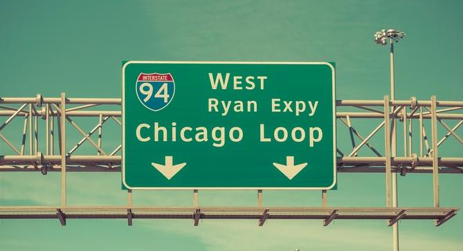 Chicago Loop highway sign