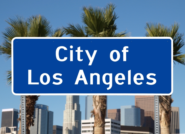 City of Los Angeles Road Sign