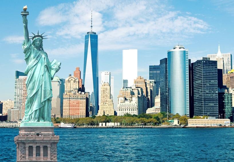 NYC-Statue-of-Liberty-Lower-Manhattan-skyline