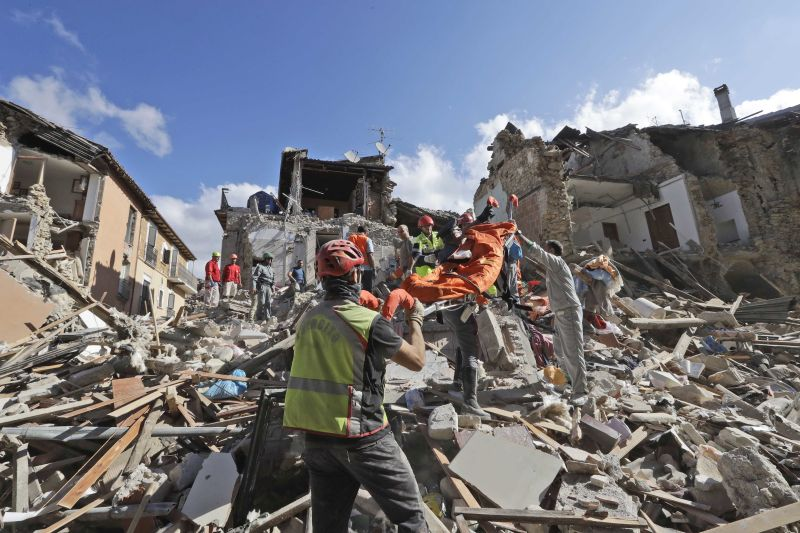 body of earthquake victim rescued