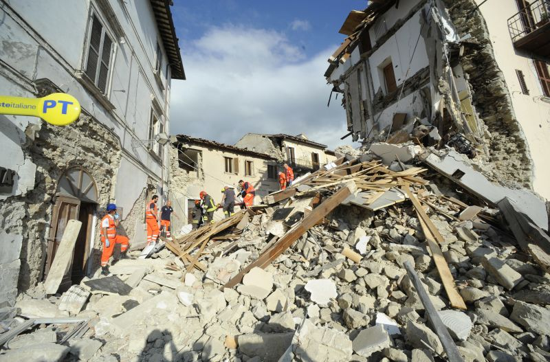 man rescued following earthquake