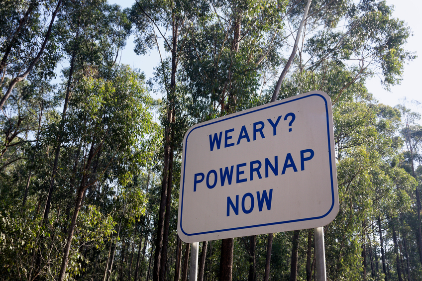Powernap road sign