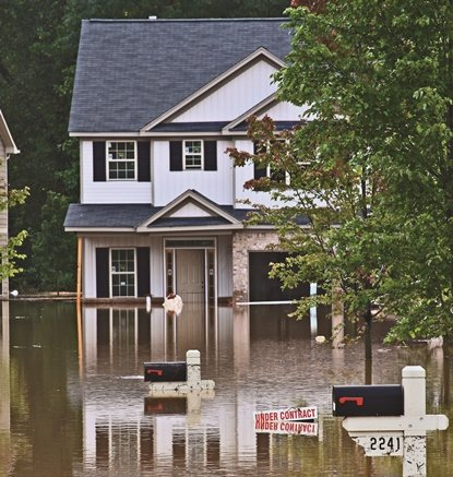 House-flooding-sign-under-contract