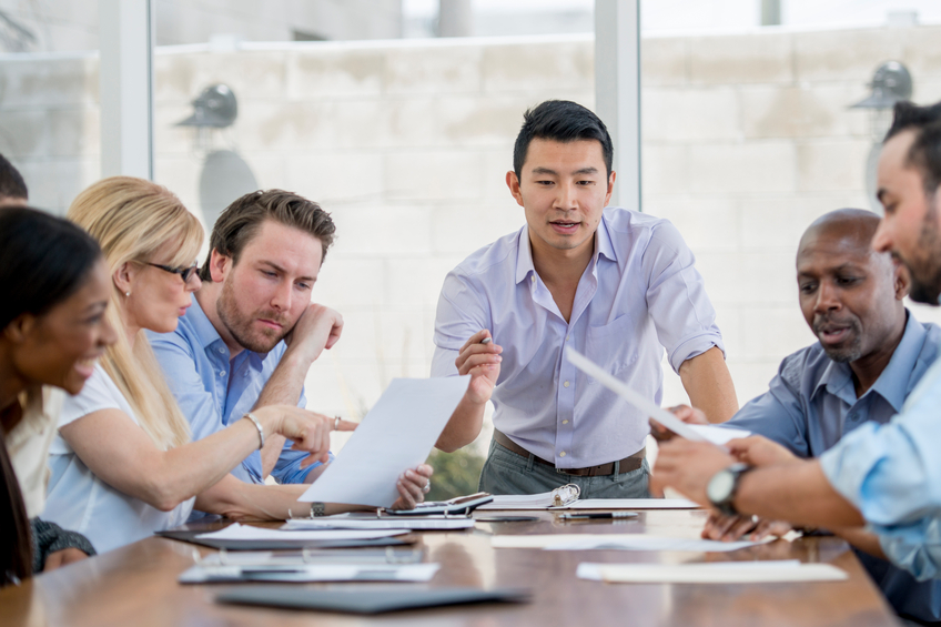 Business meeting diverse group