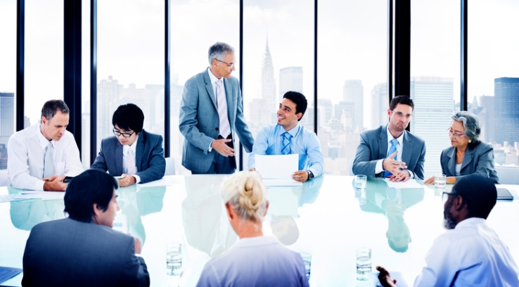 Corporate meeting board room