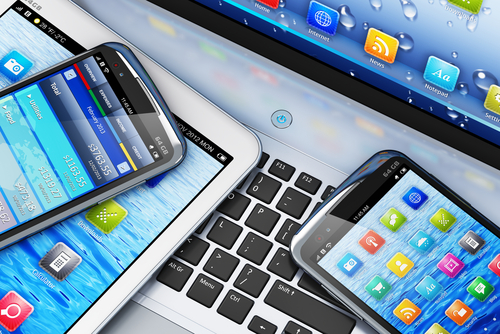 social media on multiple electronic devices