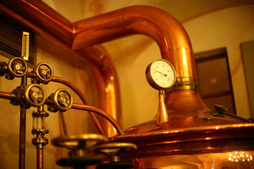 Beer vat temperature gauge
