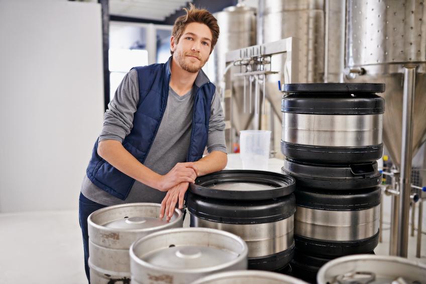 Brewery kegs