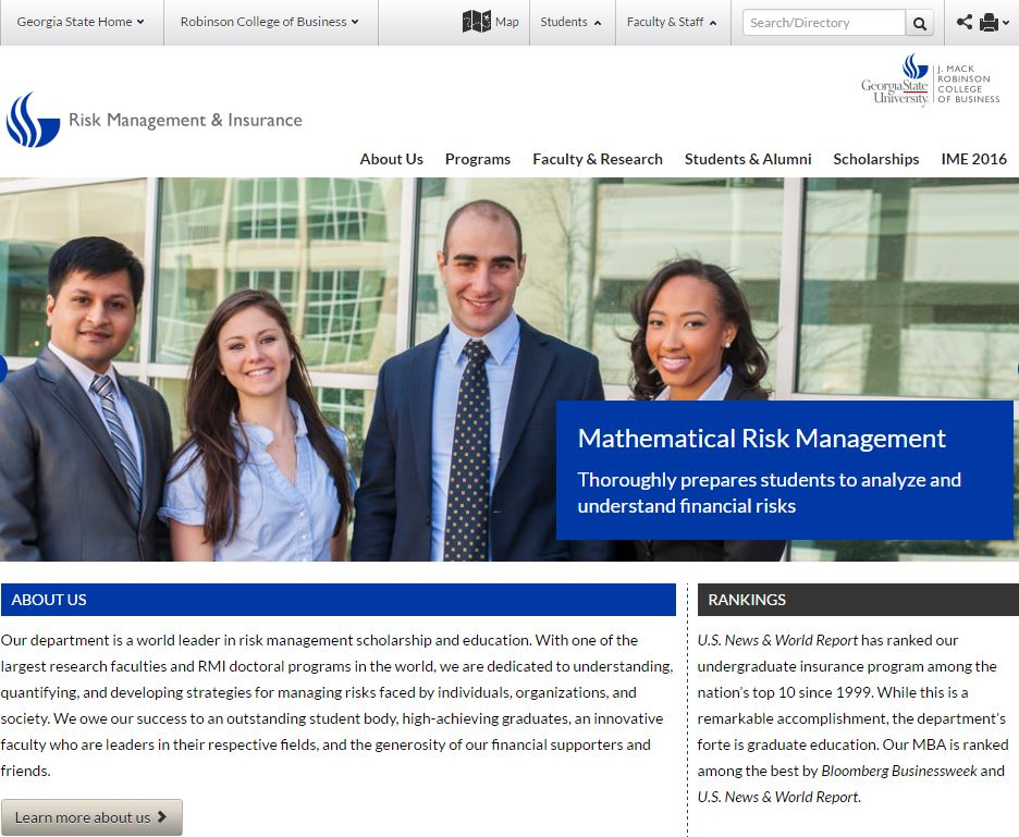 Risk Management and Insurance best undergraduate majors