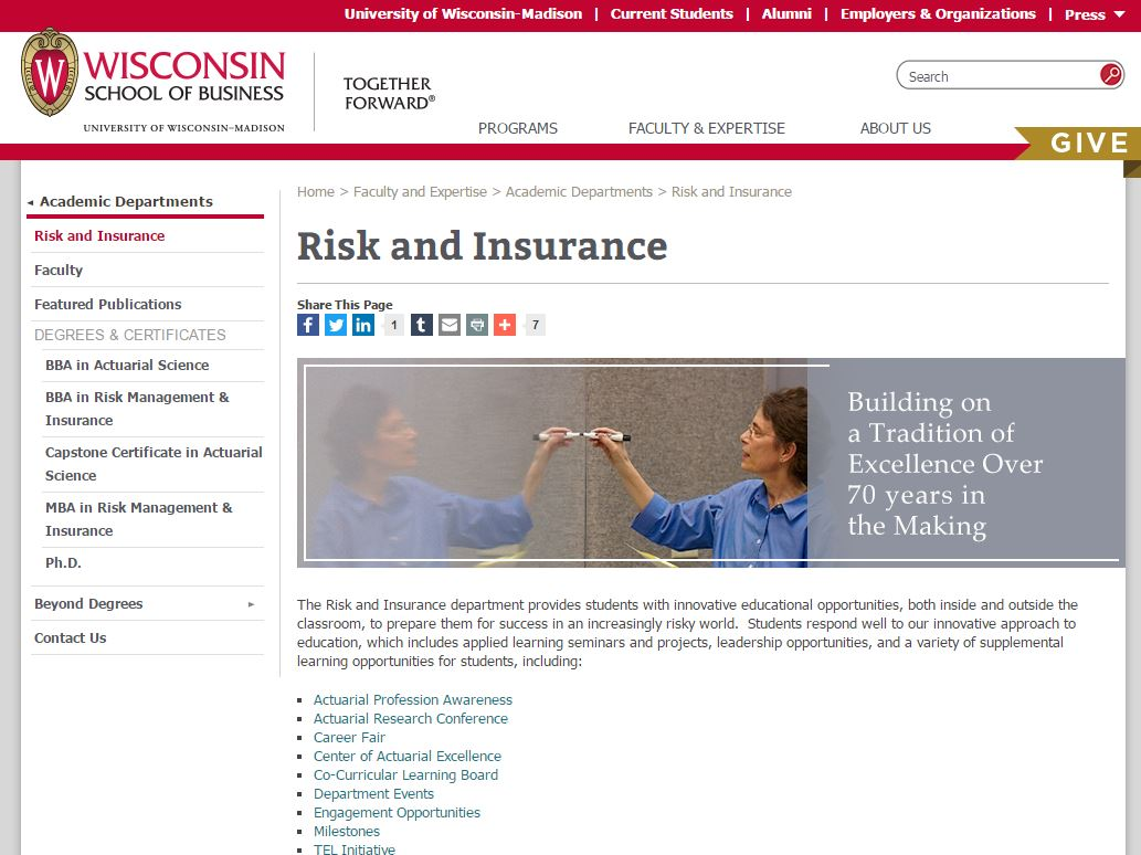 Risk Management and Insurance college majors