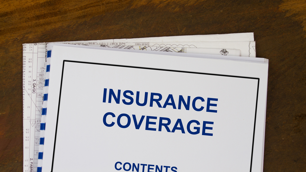 Insurance coverage in spiral bound notebook
