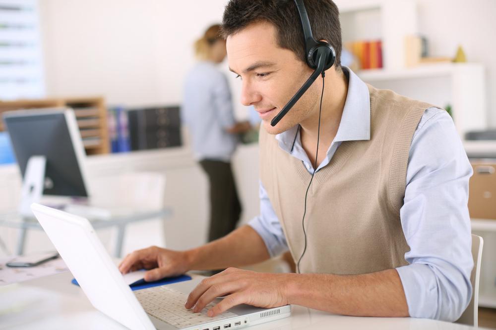 customer service representative on phone