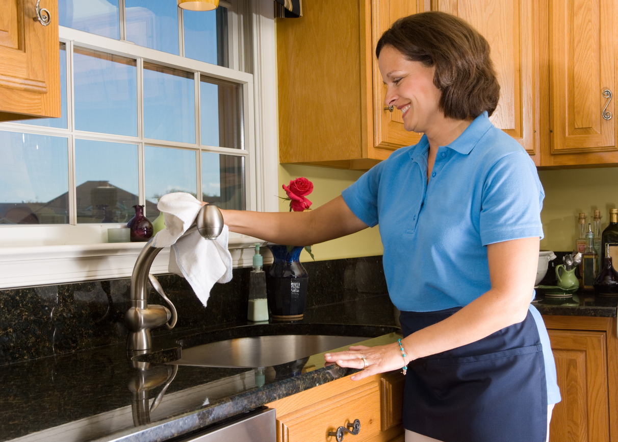 Domestic worker in home