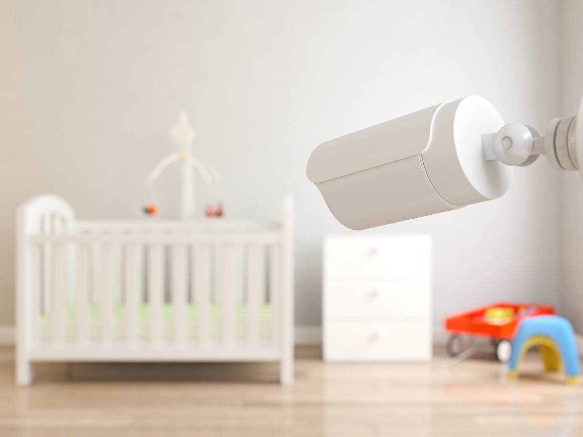 smart technology in a baby's nursery